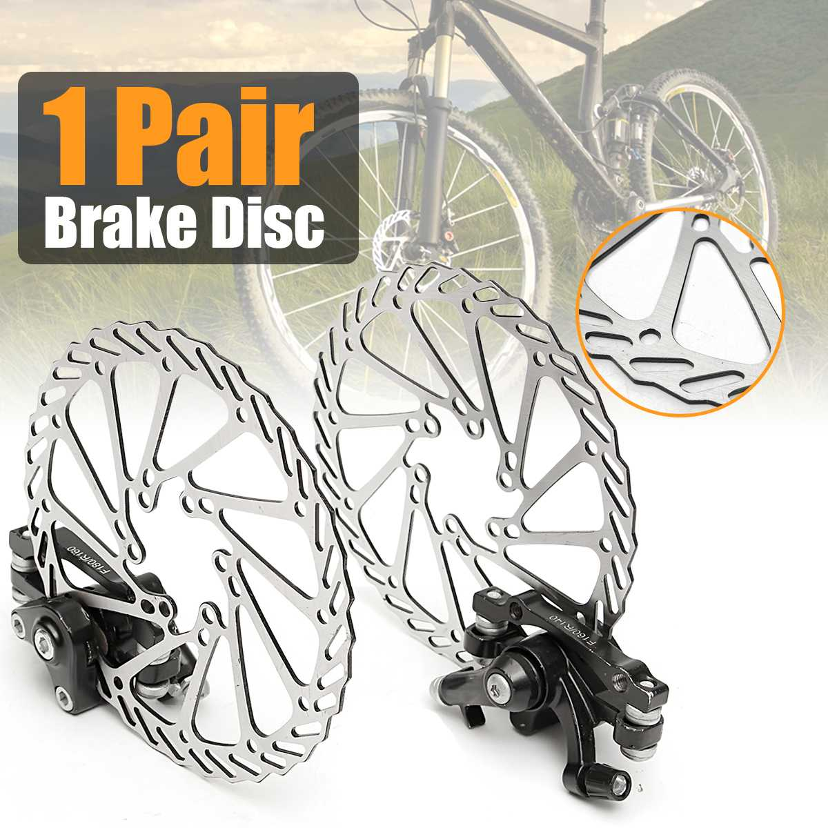 Mechanical Disc Brake Rotors Front Rear Set For MTB Mountain Bike Bicycle Parts