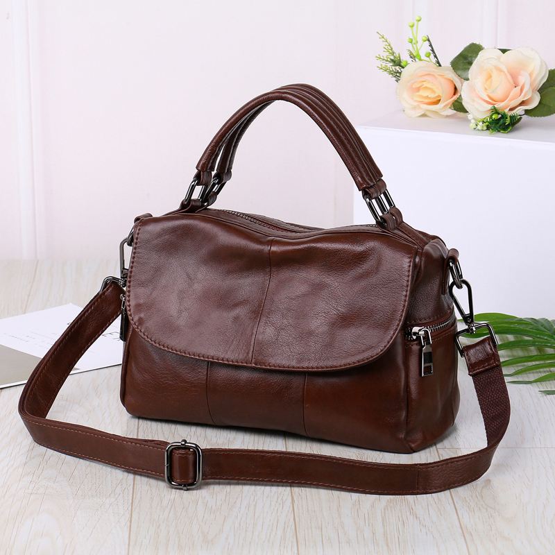 2019 New Luxury Genuine Leather Women Handbag High Quality Real Cow Leather Female Shoulder Bags Messenger