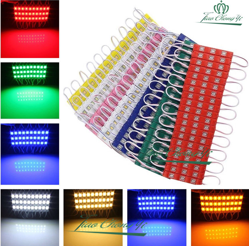12V Waterproof 5630 3leds Injection Molding 5630 SMD LED Module Super Bright Modules Lighting Red/Blue/Yellow/white 100PCS/lot 100pcs 100pcs ultra bright 0603 smd led blue