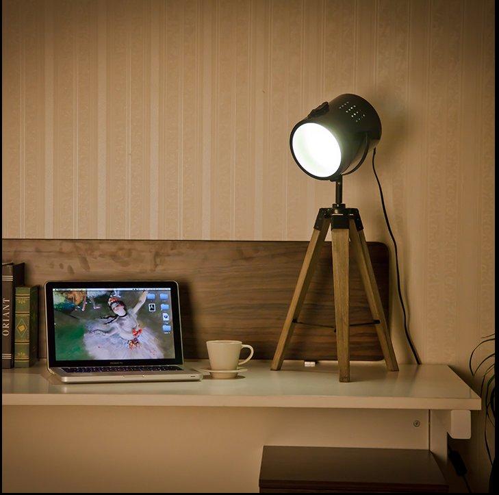 Authentische Designer Rampenlicht Stehleuchte Mit Braun Stativ Chrom Licht