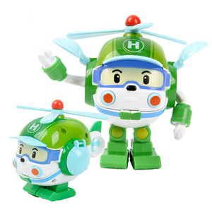 Image 5 - 6 개/대 한국 완구 robocar poli 변환 로봇 poli amber roy 자동차 모델 애니메이션 액션 피규어 어린이를위한 최고의 선물