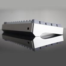 Teclado mecânico concha de alumínio ânodo gh60 poker 60 teclado mecânico escudo dz60 diy teclado