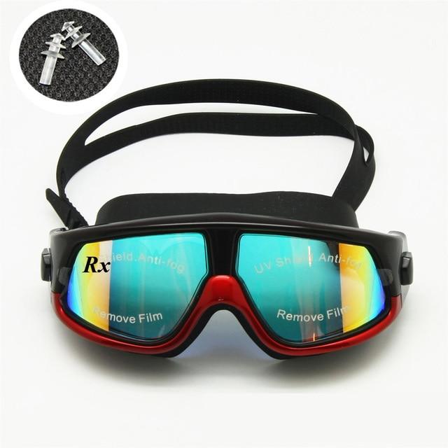 925269c9d9b Rx Prescription Swimming Glasses Myopia Optical Swim Goggles Corrective  Snorkel Mask 0 to -800 Free Ear Plugs   Storage Case
