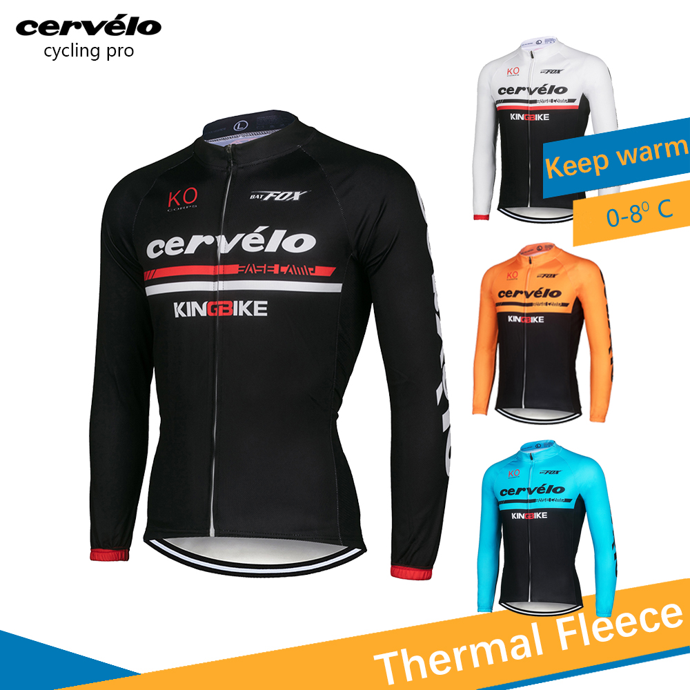 2018 Thermal Fleece Pro Cycling Jersey Set Mens Cycling Clothes Winter Long Sleeve Bike Clothing Suit Roupa Ciclismo Invierno