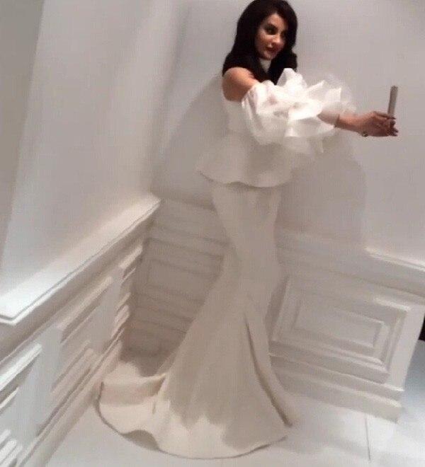Vintage Court Train robes de bal dentelle chérie décolleté blanc sirène robes de soirée 2015 nouveauté