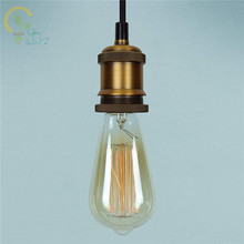 HKWWZ Vintage Edison Pendant Light Kit Antique Industrial Brass Finish Cord & Buy pendant light kit and get free shipping on AliExpress.com