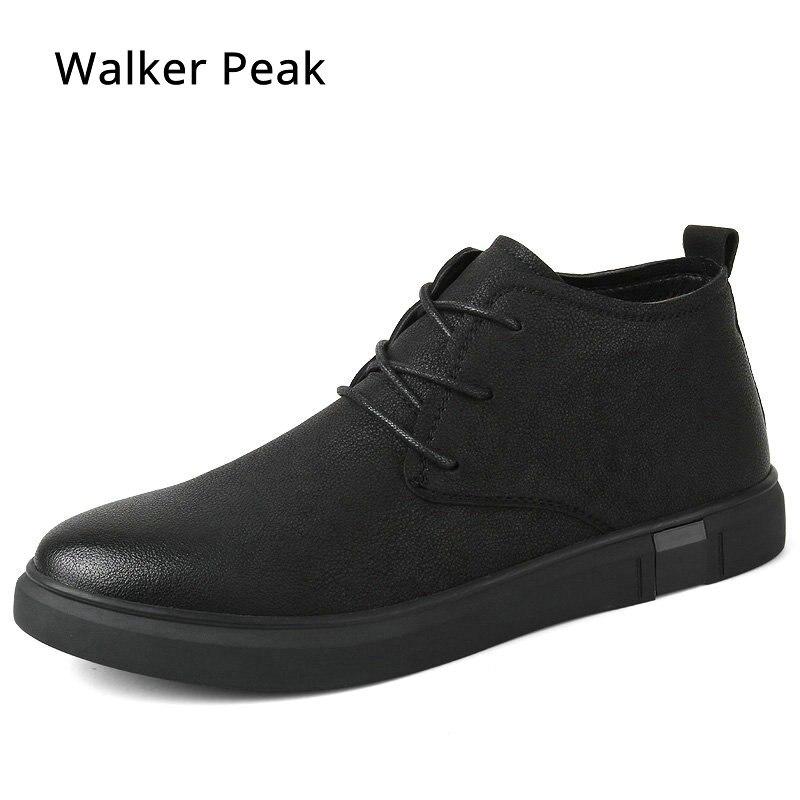 Мужские ботильоны в деловом стиле Chukka, мужские ботинки с высоким берцем, повседневная обувь, уличная кожаная мужская зимняя обувь, мужская о...