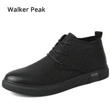 5f69b81132a4 Stiefeletten für männer Business Chukka Herren Stiefel High Top Casual Schuhe  Outdoor Leder Herren Winter Schuhe Männlichen Walk.