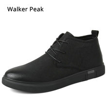 Ankle Boots for men Business Chukka Mens Boots High Top Casual Shoes Outdoor Leather Mens Winter Shoes Male Walker Peak