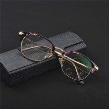 ffa7db543c36c Inteligência Multifocal Progressiva Bifocal Óculos de Leitura Comercial Ver  Perto Distante Ultra Luz Metade quadro de leitura óc.