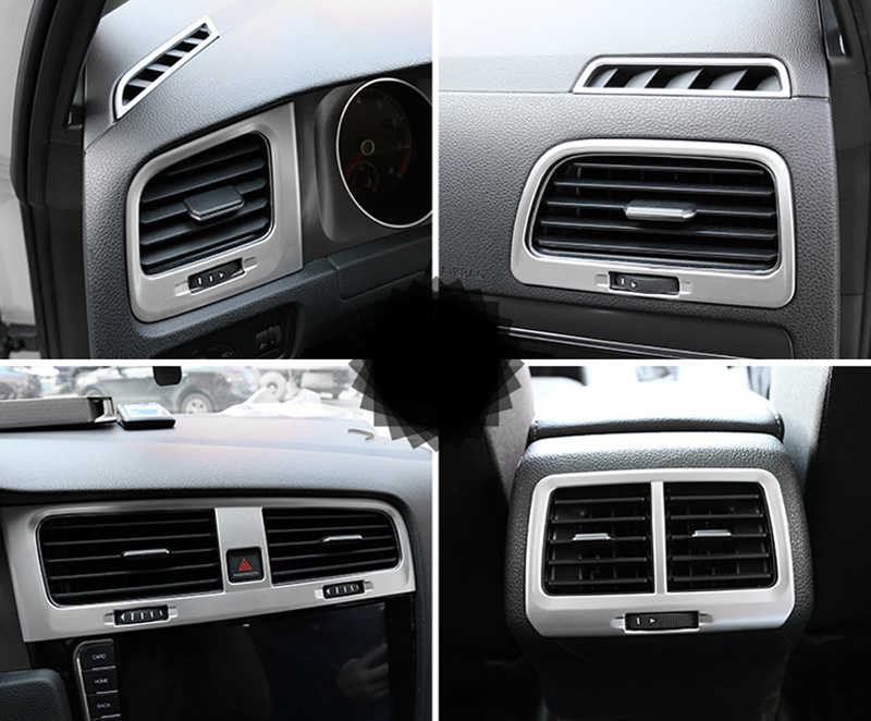 6pcs/set ABS Matte Interior AC Air Vent Outlet Cover Trim For VW Volkswagen Golf 7 Mk7 2013-2018 Left Hand Drive ONLY