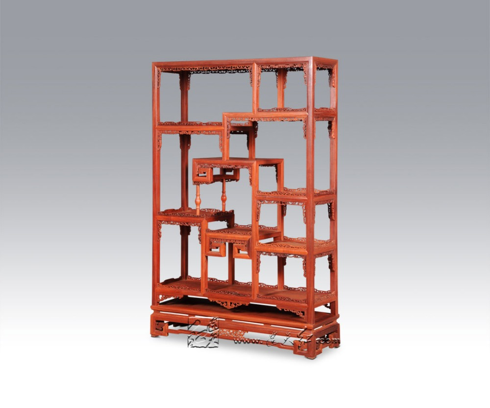 Us 57817 5 Offetagère Nieuwe Chinese Stijl Antieke Curiosa Kast Palissander Woonkamer Meubels Indienen Display Rack Massief Houten Boekenkast