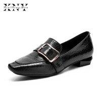XIUNINGYAN Women Flats Shoes Handmade Loafers Slip On Spring 2018 New Fashion Vintage British Mary Jane