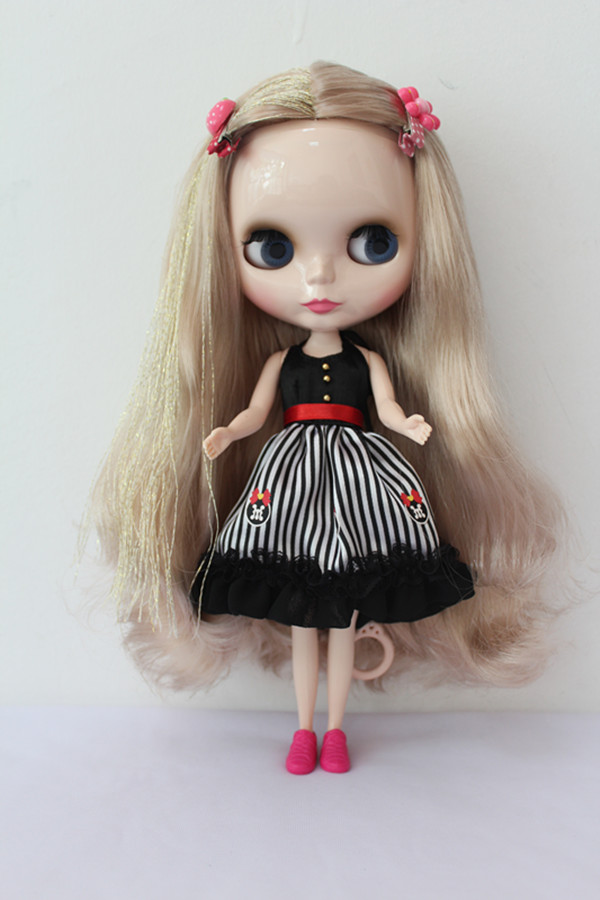 Free Shipping big discount RBL-163DIY Nude Blyth doll birthday gift for girl 4colour big eyes dolls with beautiful Hair cute toy free shipping bjd joint rbl 415j diy nude blyth doll birthday gift for girl 4 colour big eyes dolls with beautiful hair cute toy