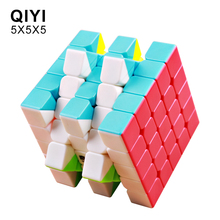 New QiYi Qizheng S 5x5x5 Magic Cube Stickerless Professional Puzzle Speed Cubes Educational Toys For Students new arrival of shengshou mastermorphix 5x5x5 cube rice dumpling stickerless magic cube speed puzzle cube toys