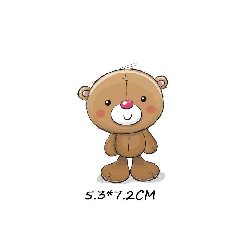 Милые маленькие животные Единорог Сова собака кошка патч для одежды стикер для детей мальчик девочка DIY патчи Футболка теплопередача Винил - Цвет: zt1080