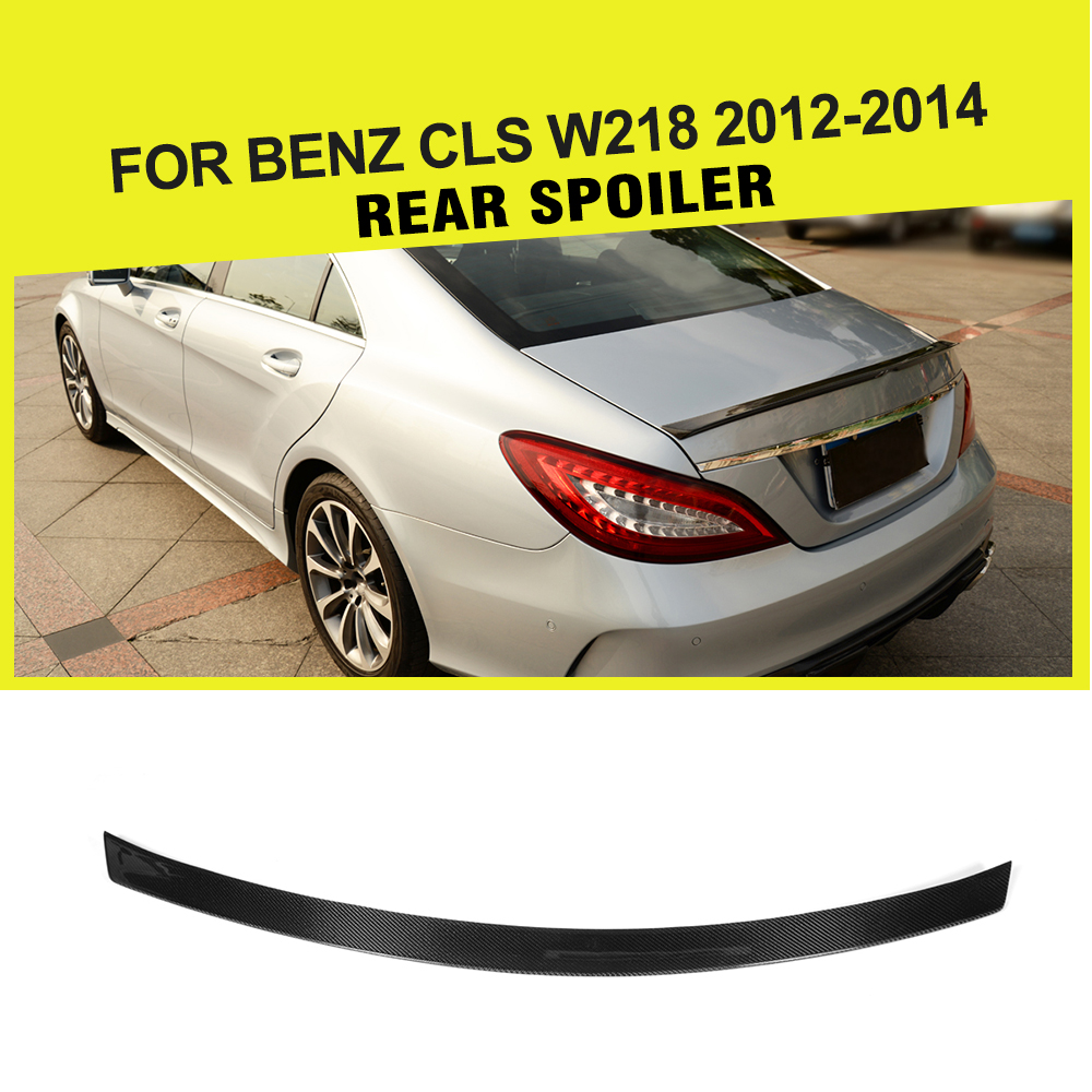 Carbon Fiber Rear Trunk Spoiler Boot Lip Wing Car Rear Tail for Mercedes Benz CLS Class W218 Base Sport CLS63 AMG 2012 2018
