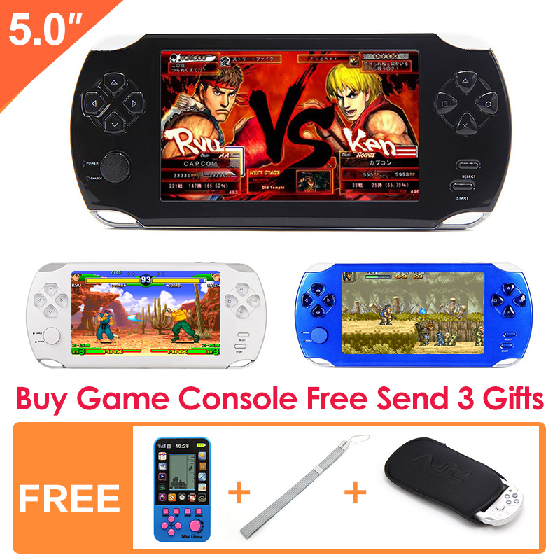 JXD Official 5.0 Inch Big Screen Handheld game player Built-in 1200+ no-repeat Games New Video Game Console MP3/4 for Kids Educational Toy
