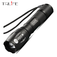 Linterna LED brillante táctica Camping pesca Flash luz T6 V6 L2 linterna recargable impermeable Uso de linternas 18650(China)