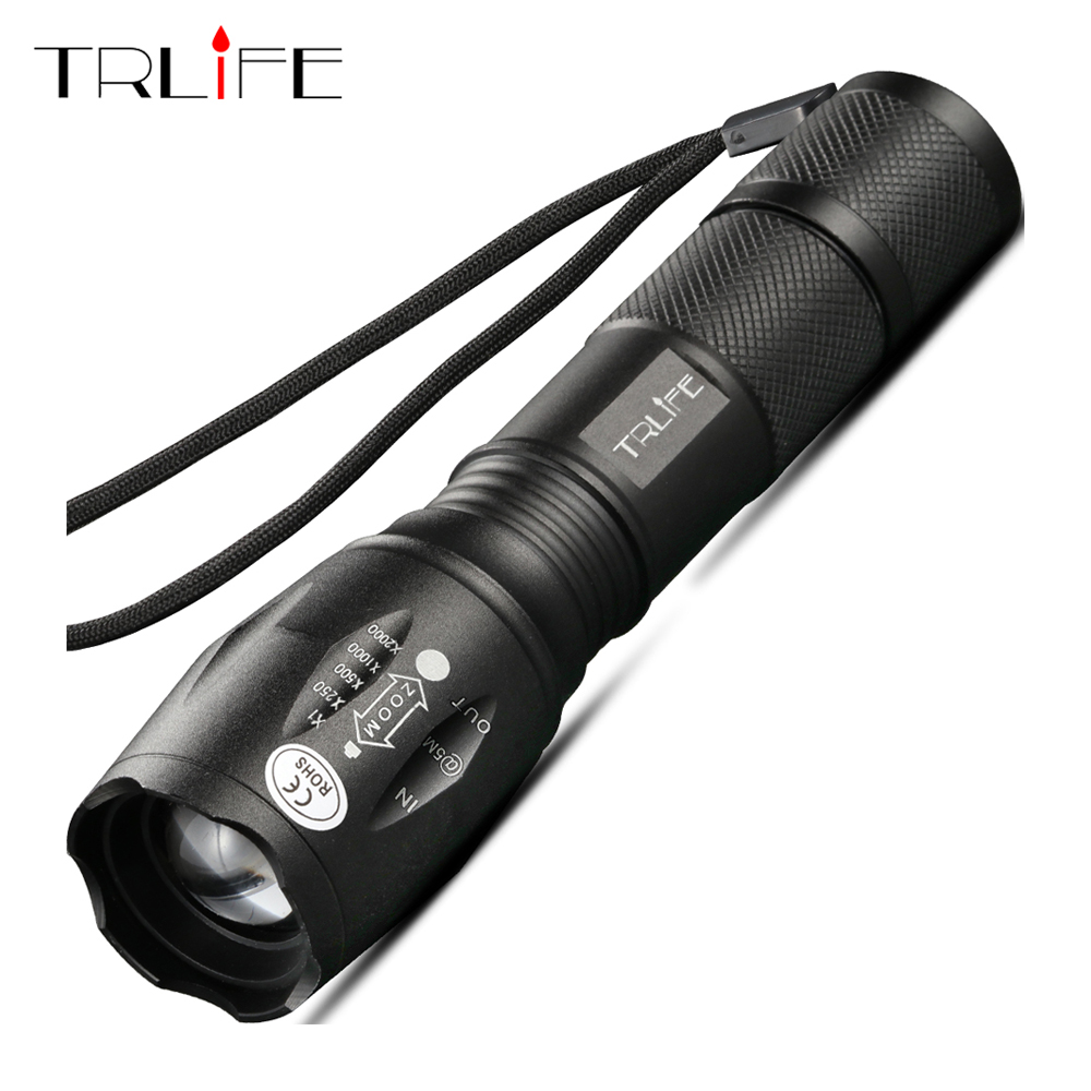 LED Flashlight Bright Tactical Camping Fishing Flash Light T6 V6 L2 Rechargeable Torch Waterproof Lanterna Use 18650