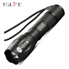 Купить с кэшбэком E17 CREE XM-L2 2500LM tactical cree led Torch Zoom cree LED Flashlight Torch light For 3xAAA or 1x 18650 rechargeable