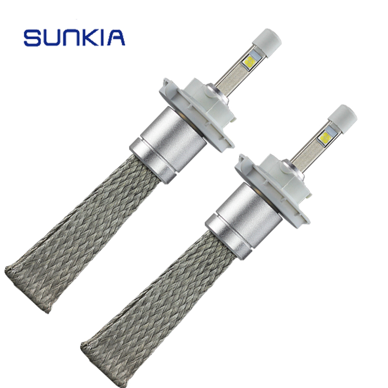 2Pcs/Set R3 Car LED Headlight Conversion Kit H13 Hi/Lo Beam Car Styling High Power 80W  9600LM Headlamp Bulb 6000k
