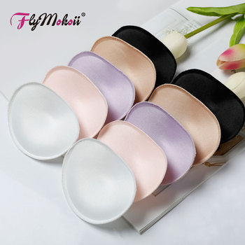 1Pair/Lot Women Bra Padded Chest Cups Insert Breast Sponge Enhancer Push Up Bikini Invisible Foam Bra Pads for Swimsuit