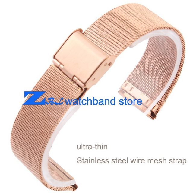 Online Shop Rose Gold Milan mesh Stainless steel Bracelet Watchband ...