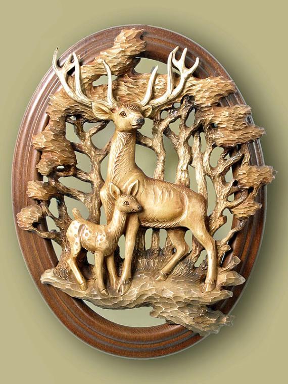 3d STL Model For CNC Router Engraver Carving Machine Relief Artcam Aspire Reindeers CNC Files (ES)