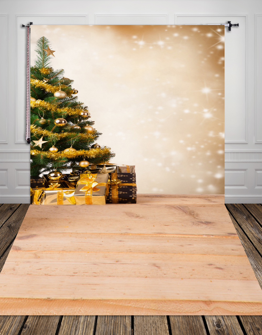 Vertical Hot Sale Art fabric Photo Studio Backdrops PC Painted Newborn baby Christmas tree gifts Backgrounds  XT-2276