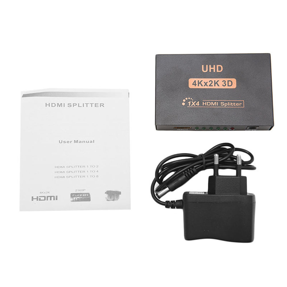 Ultra HD 4K HDMI Splitter 1X4 Port 3D UHD 1080p 4K*2K Video HDMI Switch Switcher HDMI 1 Input 4 Output HUB Repeater Amplifier