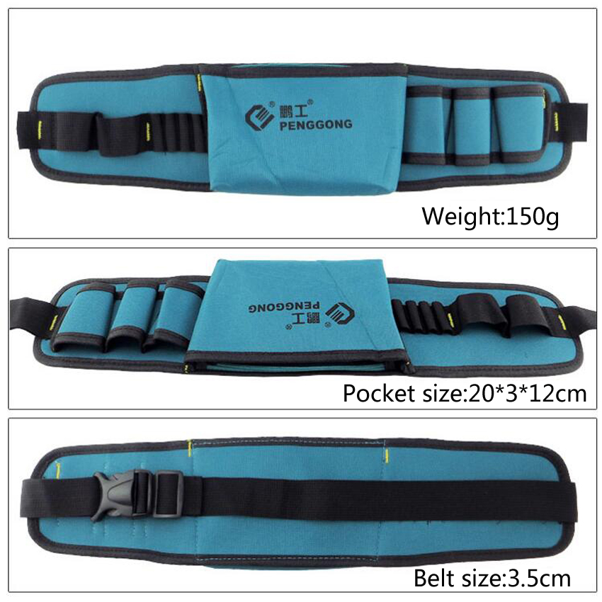 Купить с кэшбэком Hot selling Electricians Tool Belt Repair Pouch Pocket Tool Waist Bag Multifunctional Waterproof Carpenter Oxford cloth Tool Bag