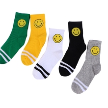 Funny Faces Printed Socks for Boys and Girls 5 Pairs Set