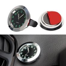 Car Clock Ornaments Mechanics Quartz Mini Air Vent Clip Watch Car-Styling Auto Decoration Black Silver