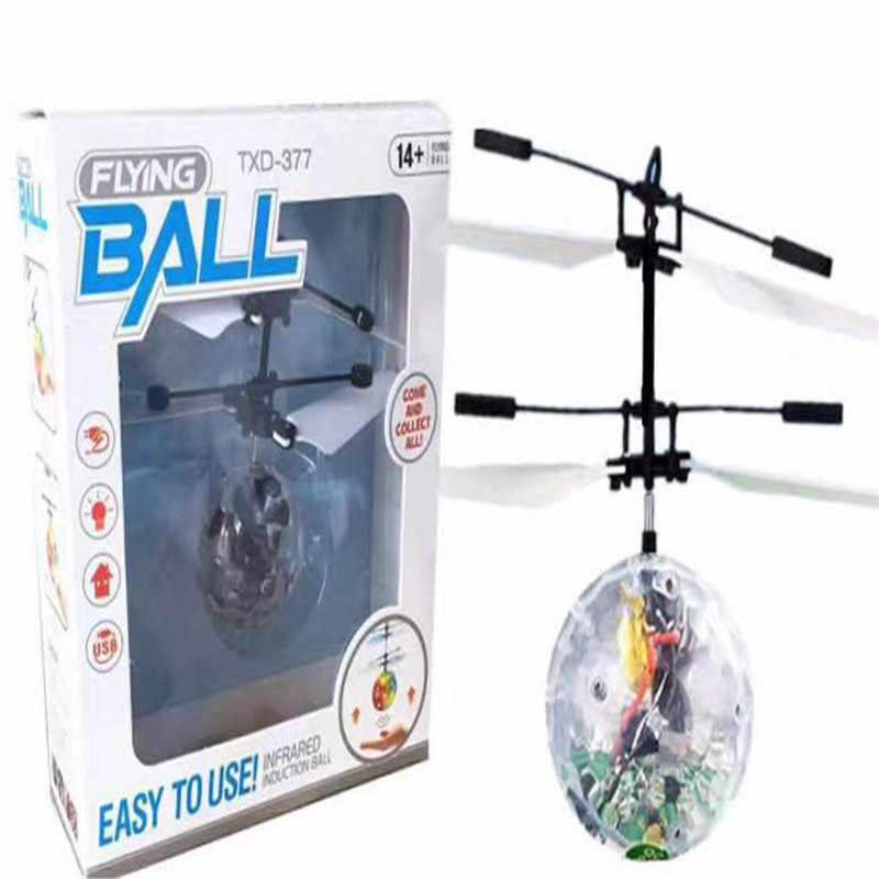 Dropship LED Magic летающий мяч красочные Стадия лампы вертолет Инфракрасный Индукционная со светодиодной подсветкой Летающие шары детей Рождественский подарок/