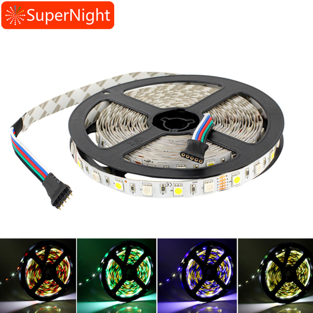 SuperNight RGBW 16.4FT 5M SMD 5050 300LEDs Waterproof IP65/Non-waterproof Flexible Tape LED Strip Light Christmas Decoration