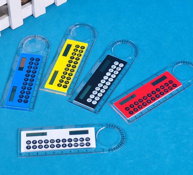 Solar Magnifier font b Calculator b font Fashion Multifunction 10 cm ultra thin ruler font b