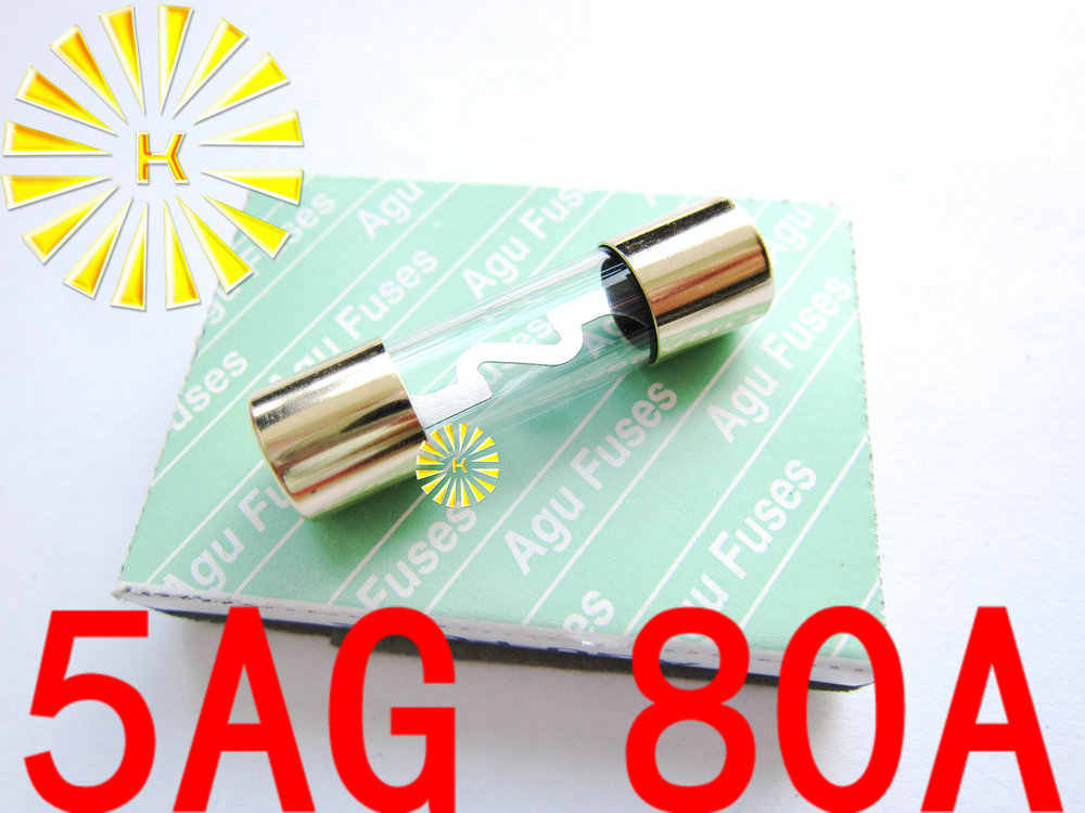 10PCS x 5AG 10A 20A 30A 40A 50A 60A 70A 80A 100A  Fuse 10*38mm Gold Plated AGU Fuses For Car Audio