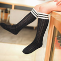 Spring Summer Children Kids Knee Socks Girls Korea Cute Striped Mesh Three Bars Students Socks knee high tube Baby Long Socks