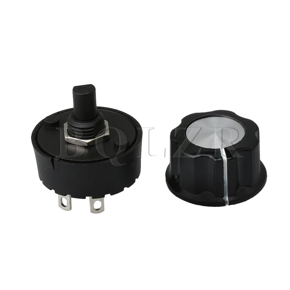 BQLZR 2 Positions Rotate Selector Rotary Switch & Knob for Mixer Juicer Soya-bean Milk Machine Home Appliance Power Under 800w