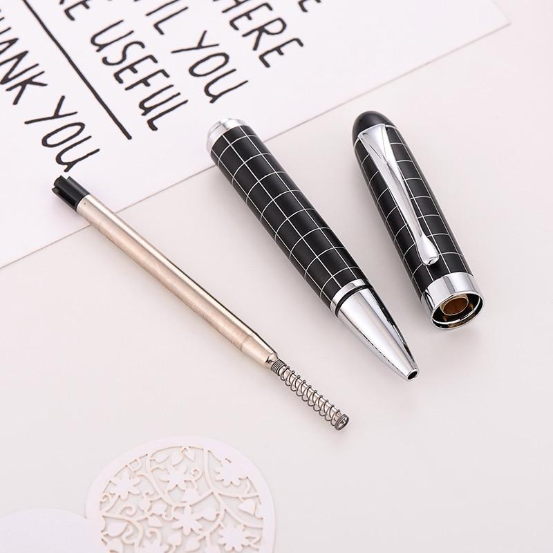 Baoer-415-Checke-Oil-Pen-0-5MM-Black-Pen-Ballpoint-Pen-High-Quality-Gift-Ball-Pen(5)