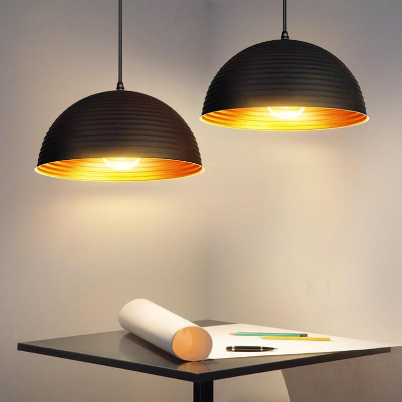American Retro Industrial Loft Pendant Lights Lamp Cafe Restaurant Bar Antique Pot Bedroom Single-Head Hang Lamps