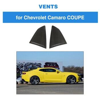 Carbon Fiber For Chevrolet CAMARO 2016 - 2019 Carbon Fiber Side Window Scoop Louver Covers Vent