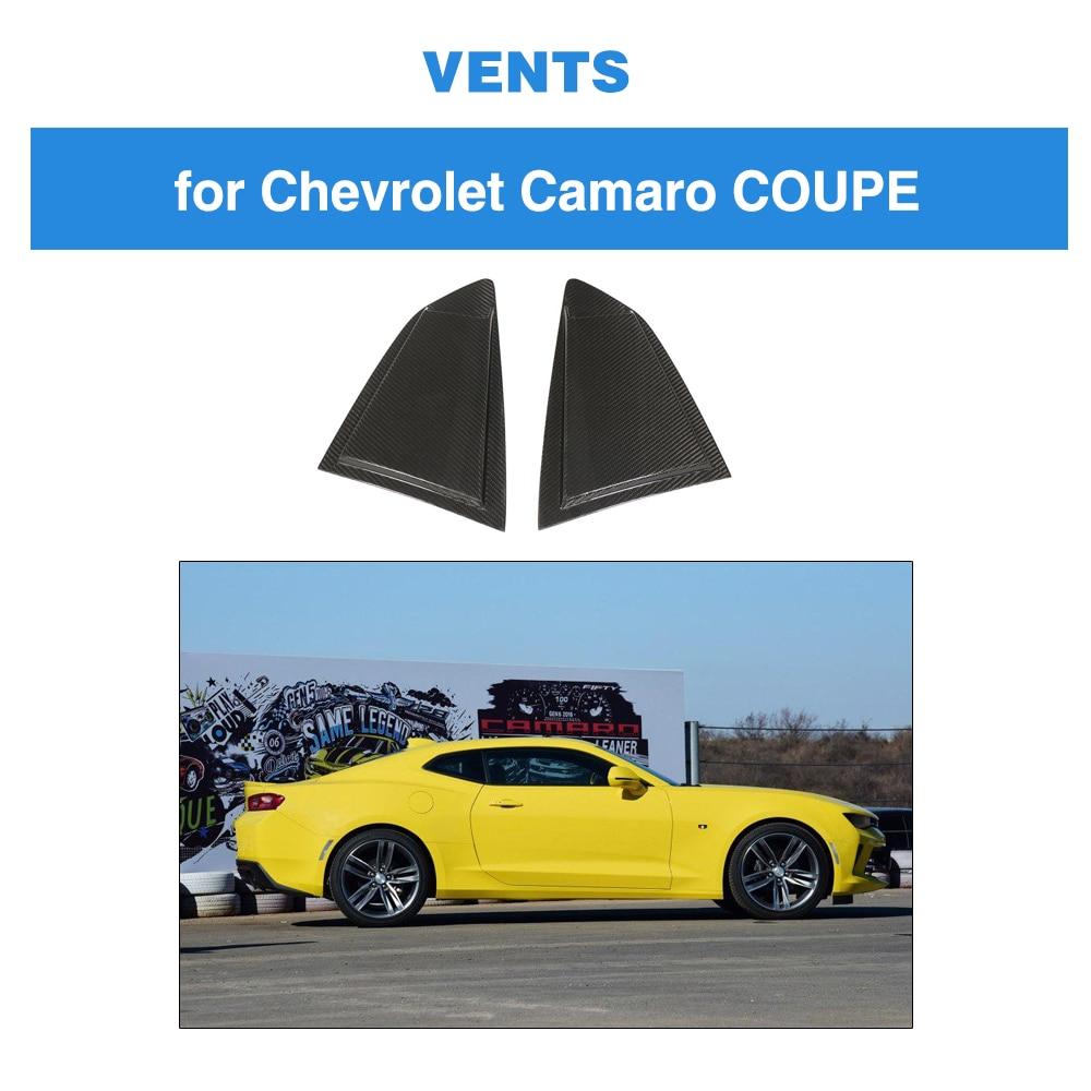 Carbon Fiber For Chevrolet CAMARO 2016 2019 Carbon Fiber Side Window Scoop Louver Covers Vent