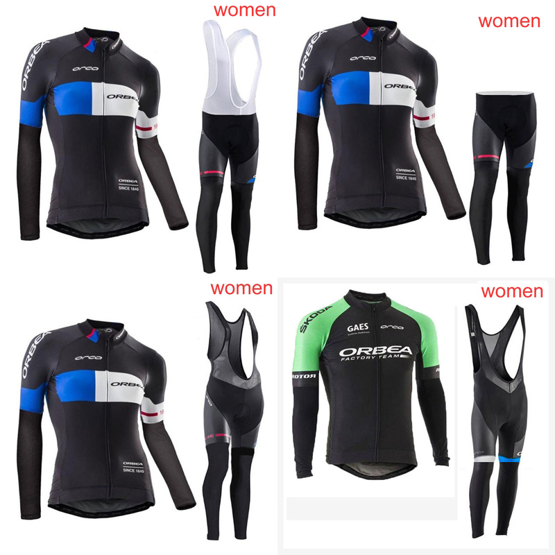 2018 ORBEA Women Team Cycling long Sleeves jersey bib pants sets Bike Clothes racing sports wear Breathable Quick dry G2008 summer sports cycling clothes men s cycling jersey sets breathable quick dry mountain bike sports wear for spring women new