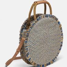 цена Round Straw Bag Women Handmade Rattan Woven Vintage Retro Straw Rope Knitted Shoulder Crossbody Beach Bag Handbag Summer Bohemia в интернет-магазинах