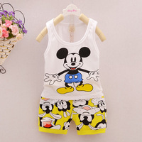 Girls Kids Cloth Summer Baby Boy Clothes Mickey Toddler Boys Clothing Minnie Twins Children Cotton Suit