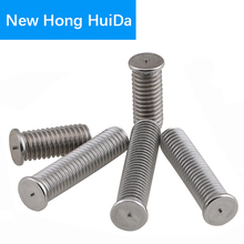 Weld Stud Bolt Thread Metric Flat Head Ponit Welding Screw 304 Stainless Steel M4 2pcs m4 200mm m4 200mm thread length 16mm 304 stainless steel dual head screw rod double end screw hanger blot stud