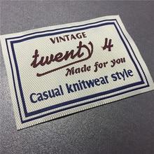 Custom Logo High Density Clothing Woven Labels Name