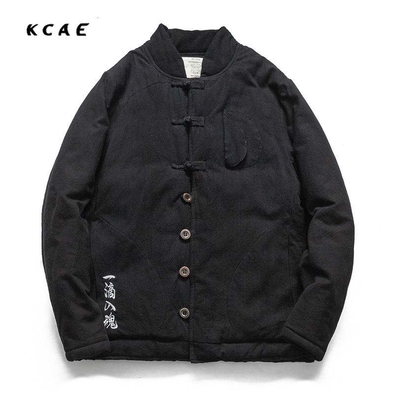 New Winter Men's Cotton Linen Padded Thickened Jacket China Style Male Jeans Coat Mens Fashion Casual Warm Denim Parkas Jacket new elastic cotton and linen male